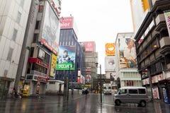 Dotonbori, Osaka,Japan. OSAKA,JAPAN - APRIL 20 : Tourists visit Dotonbori on April 20,2015 in Osaka. It is one of the tourist destinations in Osaka, Japan. It is Royalty Free Stock Images