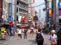 Dotonbori, Osaka, Japan. The famous and busy Dotonbori quarter in Osaka, Japan Royalty Free Stock Images