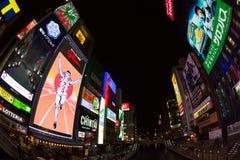 Dotonbori in Osaka, Japan. People at the famous tourist destinations Dotonbori in Osaka, Japan Stock Photos