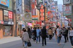 Dotonbori Osaka Japan. People visit Dotonbori famous tourist attraction Osaka Japan Stock Photos