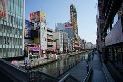 Dotonboririvier, Osaka, Japan Stock Foto