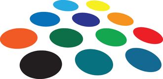 Dots. A collection of dots that can be used a blank place holders stock illustration