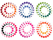 Dots. Collection of colored dot symbols - illustration Stock Photography