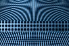 Abstract of black dots against blue metallic surface. Abstract of black dots on blue metallic surface on the ceiling outside the Tampa Museum of Art in Tampa royalty free stock image