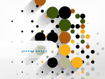 Dots abstract geometric shape background Royalty Free Stock Photos