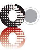 Dots abstract zen alphabet Royalty Free Stock Image
