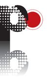 Dots abstract zen alphabet Royalty Free Stock Photography