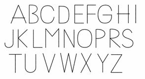 Dots alphabet Stock Photos