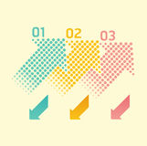 Dots arrows soft color / can be used for infographics Stock Photography