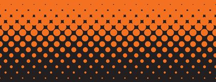 Dots As An Abstract Background arancio e nero illustrazione vettoriale