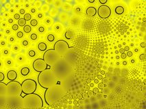 Dots Background. Generated with fractal. Dots and lines Royalty Free Stock Photo