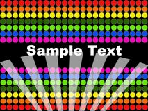Dots background. An abstract design with colorful dots Royalty Free Stock Images