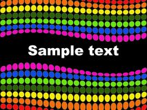 Dots background. An abstract design with colorful dots Stock Photos
