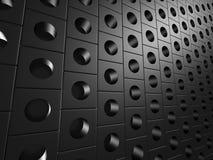 Dots Background brillant métallique noir Photos stock