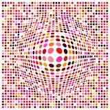 A dots background with a 3d effect. Illustration of a dots background with a 3d effect Stock Images