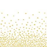 Dots Background dourado de queda aleatório Imagens de Stock Royalty Free