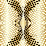 Dots Background guldvektor stock illustrationer