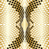 Dots Background guldvektor Royaltyfria Bilder