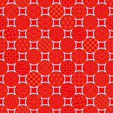 Dots background with Japanese traditional design. Royalty Free Stock Photos