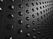 Dots Background lucido metallico nero Fotografie Stock