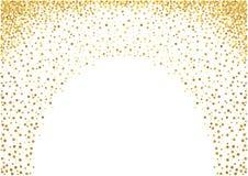 Dots Background pintado oro Imagenes de archivo