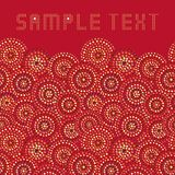 Dots circles. On red background. Seamless ceramic background Vector Illustration