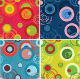 Dots and circles background set Stock Image