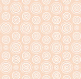 Dots circles white pattern on warm beige Stock Photo