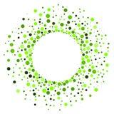 Dots Circular Halloween Frame verde Fotografía de archivo
