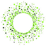 Dots Circular Halloween Frame vert Photographie stock