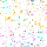 Dots colored flower Royalty Free Stock Photos