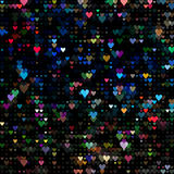 Dots colored neon heart. Abstract  background design Royalty Free Stock Images