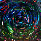 Dots colored Spiral. Background design image Stock Image