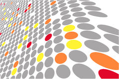 Dots colored vector wave Royalty Free Stock Images