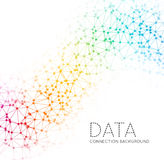 Dots with connections, triangles light background Stock Image