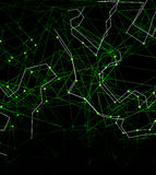 Dots with connections, triangles light background Stock Photo