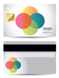 Dots credit card design Royalty Free Stock Photography