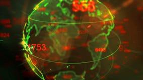 Dots Earth que gira en campos del ciberespacio 3d libre illustration