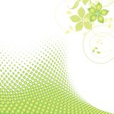Dots ecological background Royalty Free Stock Image