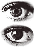 Dots eye Royalty Free Stock Image