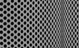 Dots fabric. Black and white dots fabric close up background stock image