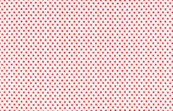 Dots Fabric. Red dots over white Polka dot fabric background and texture royalty free stock images