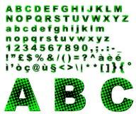 Dots fantasy alphabet - green Royalty Free Stock Images