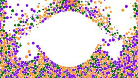 Dots filling white background. Animation. Abastract animation of multicolored dots filling white background leaving