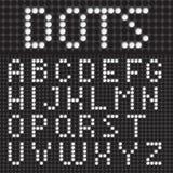 Dots Font Poster Stockbild