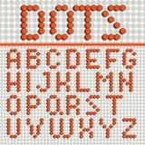 Dots Font Poster Royaltyfri Foto