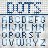 Dots Font Poster Lizenzfreie Stockfotos