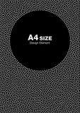 Dots Frame de semitono abstracto blanco en fondo negro Fondo del círculo Foto de archivo