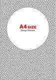 Dots Frame de semitono abstracto Fondo del círculo A4 tamaño, formato a4 Imagen de archivo libre de regalías