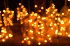 Dots of glittering lights. blurred lights stock photo
